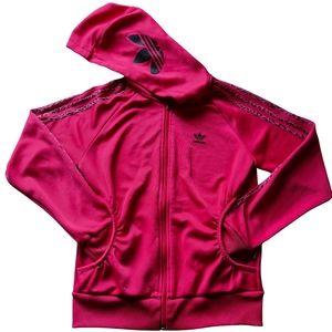 Adidas Hot Pink Activewear Jacket Hoodie Size UK 8